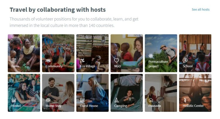 Worldpackers best sites for work exchange